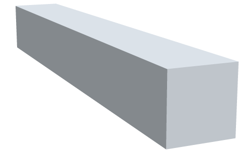 Vierkantstangen Zinnbronze