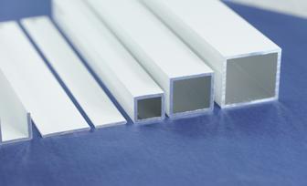 aluminium vierkantrohr pulverbeschichtet farbe ral 9016 wei gemmel metalle. Black Bedroom Furniture Sets. Home Design Ideas