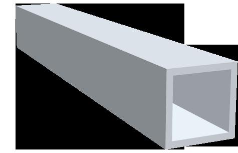 Rohre - vierkant - geschliffen