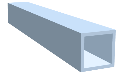Rohre, vierkant - eloxiert