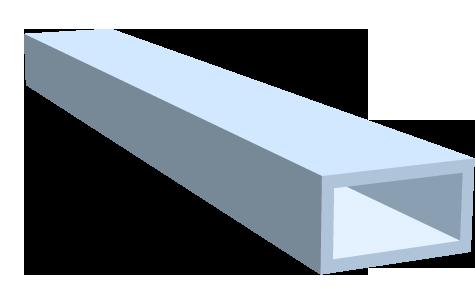 Rohre - flachkant - eloxiert
