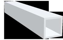 Rohre, vierkant - farbig