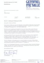 REACH Erklärung für Halbzeuge ohne Blei